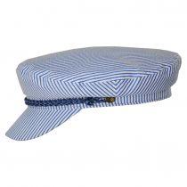 Ashland Slate Stripe Cotton and Linen Blend Fiddler's Cap alternate view 3