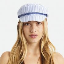 Ashland Slate Stripe Cotton and Linen Blend Fiddler's Cap alternate view 5
