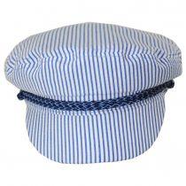 Ashland Slate Stripe Cotton and Linen Blend Fiddler's Cap alternate view 8
