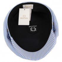Ashland Slate Stripe Cotton and Linen Blend Fiddler's Cap alternate view 10