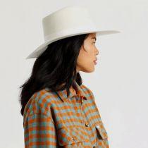 Jo Off White Wool Felt Rancher Fedora Hat alternate view 10