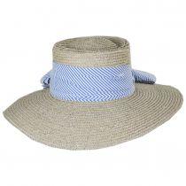 Aries Wide Brim Wheat Straw Boater Sun Hat alternate view 2