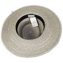 Aries Wide Brim Wheat Straw Boater Sun Hat alternate view 4