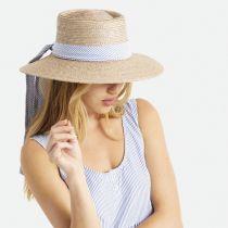 Aries Wide Brim Wheat Straw Boater Sun Hat alternate view 6