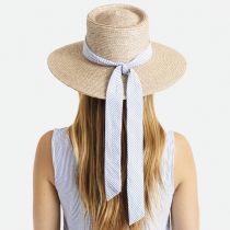 Aries Wide Brim Wheat Straw Boater Sun Hat alternate view 14