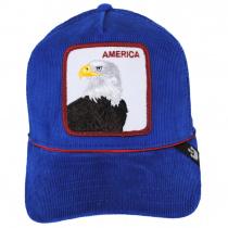 America Cord Mesh Trucker Snapback Baseball Cap alternate view 2