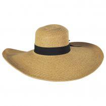 Extra Wide Brim Toyo Straw Blend Swinger Hat alternate view 2