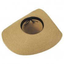 Extra Wide Brim Toyo Straw Blend Swinger Hat alternate view 4