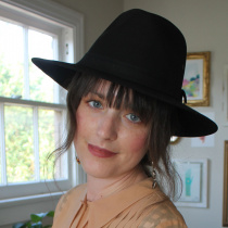 Black Cotton Oilcloth Safari Fedora Hat alternate view 15