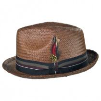 Tribeca Toyo Straw Trilby Fedora Hat alternate view 3