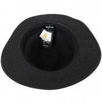 Wesley Black/Brown Braided Toyo Straw Fedora Hat alternate view 4
