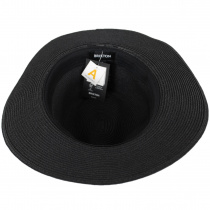 Wesley Black/Brown Braided Toyo Straw Fedora Hat alternate view 12
