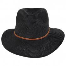 Wesley Black/Brown Braided Toyo Straw Fedora Hat alternate view 14