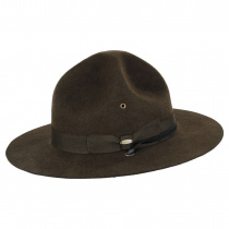 Wool Campaign Hat with Adjustable Chin Strap alternate view 3