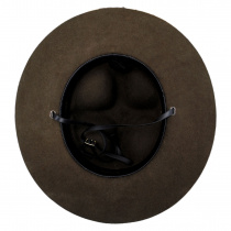 Wool Campaign Hat with Adjustable Chin Strap alternate view 4