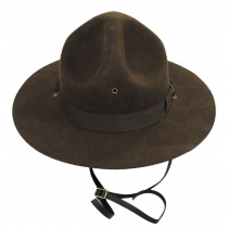 Wool Campaign Hat with Adjustable Chin Strap alternate view 6