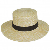 Spencer Wheat Straw Suede Band Boater Hat alternate view 2