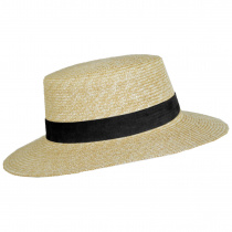 Spencer Wheat Straw Suede Band Boater Hat alternate view 7