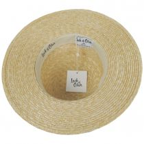 Spencer Wheat Straw Suede Band Boater Hat alternate view 8