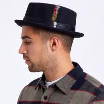 Stout Wool Felt Diamond Crown Fedora Hat alternate view 10