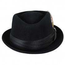 Stout Wool Felt Diamond Crown Fedora Hat alternate view 12