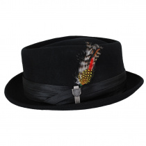 Stout Wool Felt Diamond Crown Fedora Hat alternate view 13