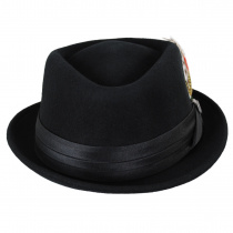 Stout Wool Felt Diamond Crown Fedora Hat alternate view 17