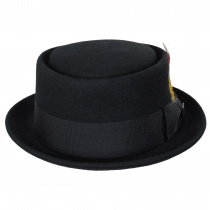 Crushable Black Wool Felt Pork Pie Hat alternate view 26