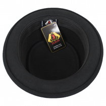 Crushable Black Wool Felt Pork Pie Hat alternate view 28