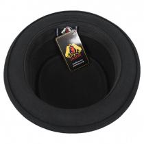 Crushable Black Wool Felt Pork Pie Hat alternate view 10