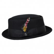 Crushable Black Wool Felt Pork Pie Hat alternate view 15