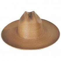 Toluca Fine Palm Straw Cattlemen Western Hat alternate view 2