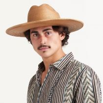 Toluca Fine Palm Straw Cattlemen Western Hat alternate view 5