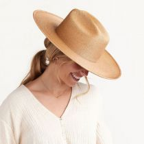 Toluca Fine Palm Straw Cattlemen Western Hat alternate view 6