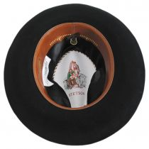 Obsidian Beaver/Chinchilla Fur Felt Fedora Hat and Traveling Case alternate view 5