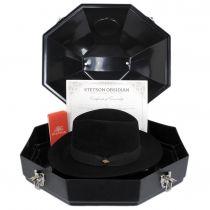 Obsidian Beaver/Chinchilla Fur Felt Fedora Hat and Traveling Case alternate view 14
