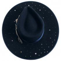 Night Sky S Wide Brim Wool Felt Fedora Hat alternate view 4