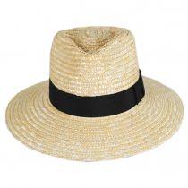 Joanna Petite Brim Wheat Straw Fedora Hat alternate view 2