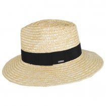 Joanna Petite Brim Wheat Straw Fedora Hat alternate view 3