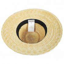 Joanna Petite Brim Wheat Straw Fedora Hat alternate view 4