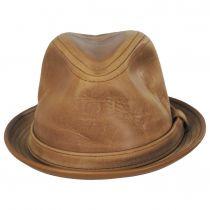 Vintage Leather Fedora Hat alternate view 2