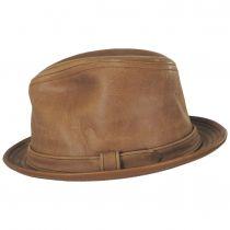Vintage Leather Fedora Hat alternate view 11