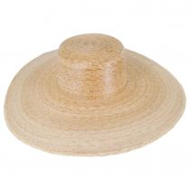 Palma Ultra Wide Palm Straw Boater Hat alternate view 2