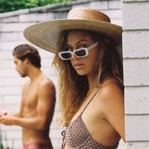 Palma Ultra Wide Palm Straw Boater Hat alternate view 5