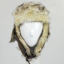Winter Vegan Leather Trapper Hat alternate view 2