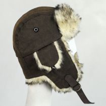Winter Vegan Leather Trapper Hat alternate view 3