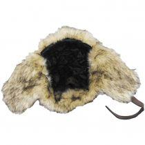Winter Vegan Leather Trapper Hat alternate view 4