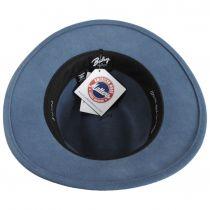 Curtis Light Blue Wool Felt Safari Fedora Hat alternate view 8