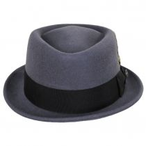 Gray Wool Felt Diamond Crown Fedora Hat alternate view 2
