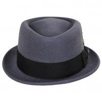 Gray Wool Felt Diamond Crown Fedora Hat alternate view 14